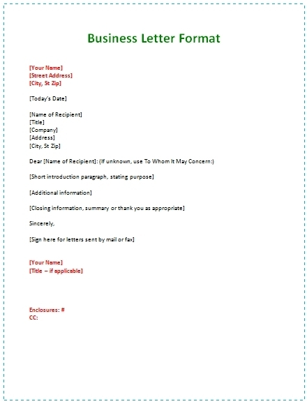 20 official letter format examples pdf