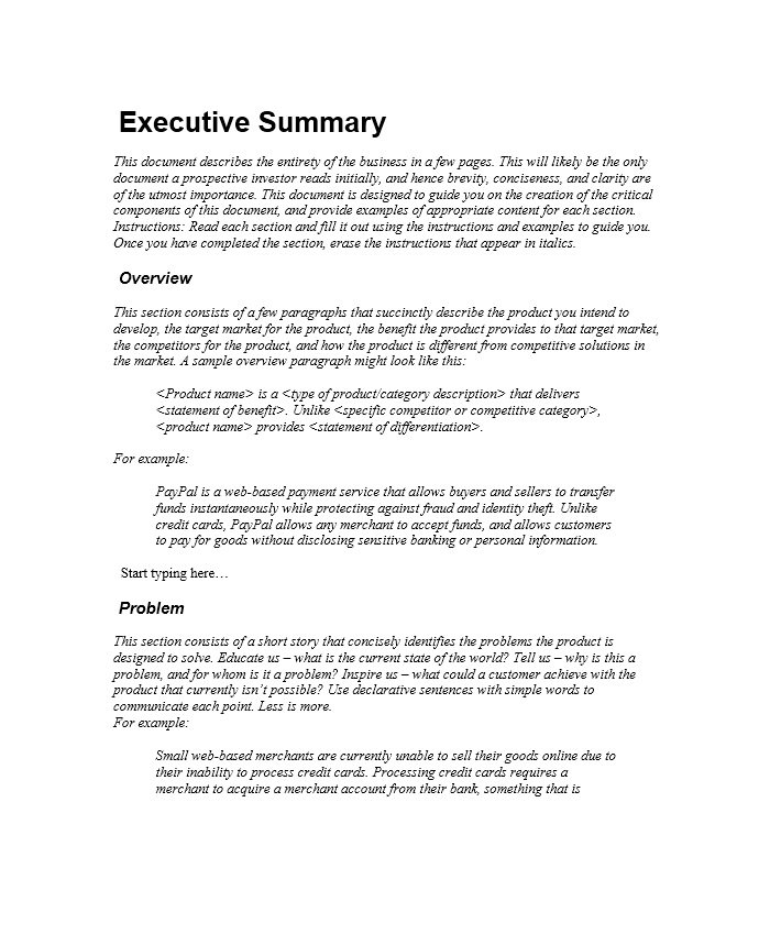 9  executive summary marketing plan examples