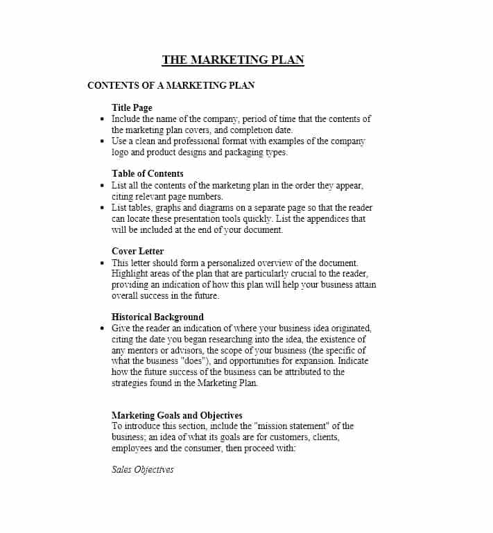 10 business marketing plan examples pdf