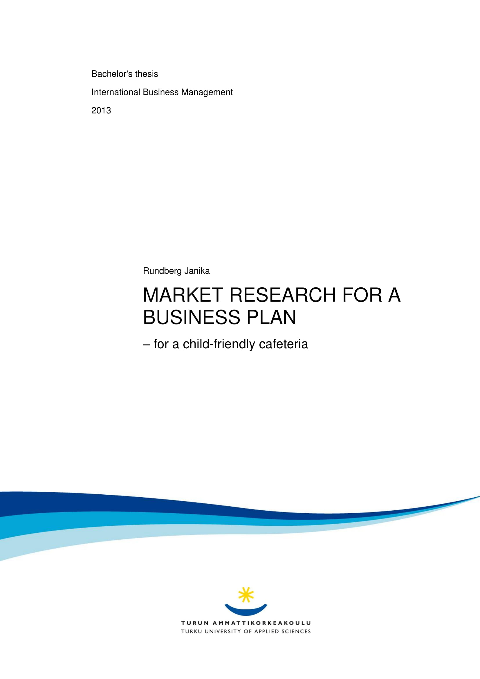 business plan market research and analysis example 01