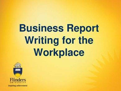 business report writing for the workplace example