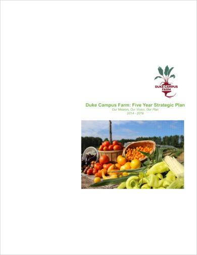 campus farm five year strategic plan