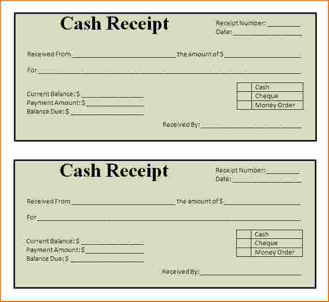 13 printable receipt examples pdf word