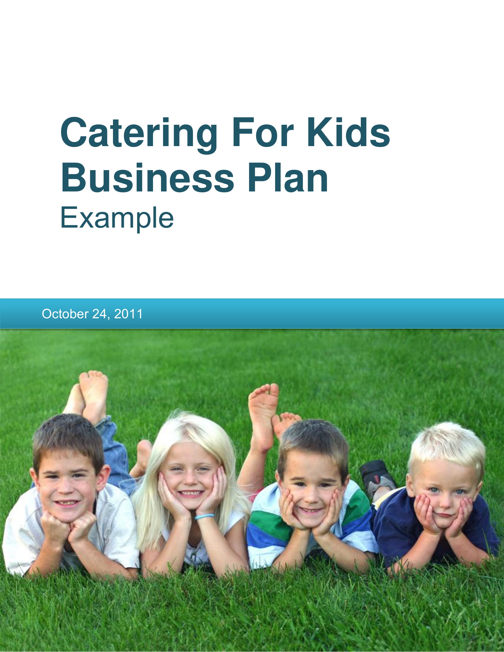 catering for kids company business plan example