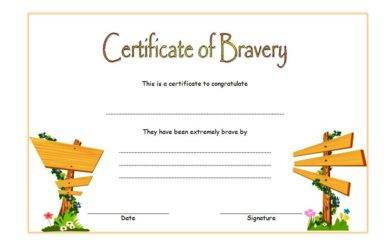 certificate of bravery example1