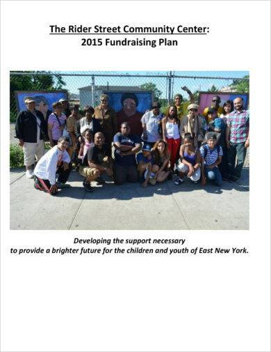 community annual fund raising plan example1