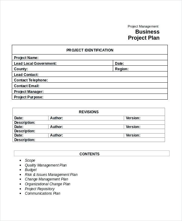 community business project plan example