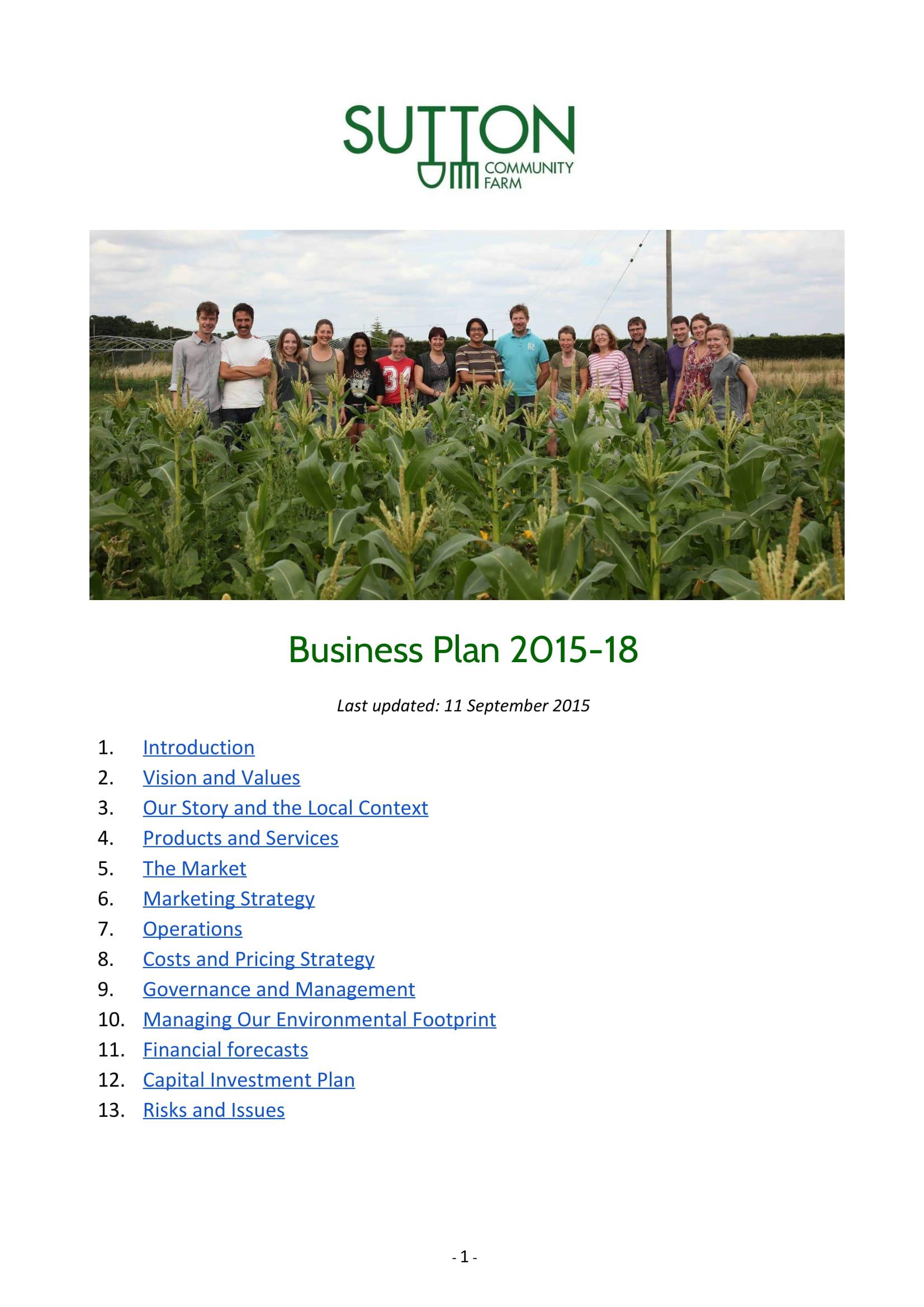 community farm business plan example 01