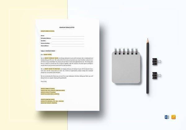 company bonus letter template1
