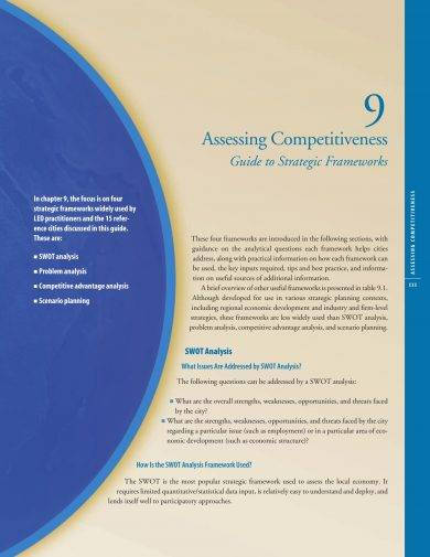 competitiveness assessment with competitor swot analysis example