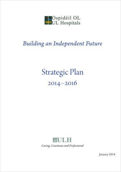 comprehensive hospital strategic plan example