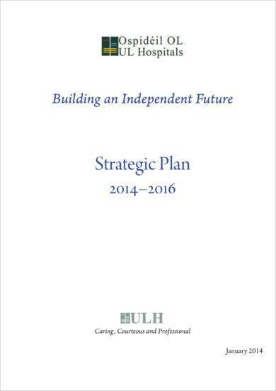 comprehensive hospital strategic plan example