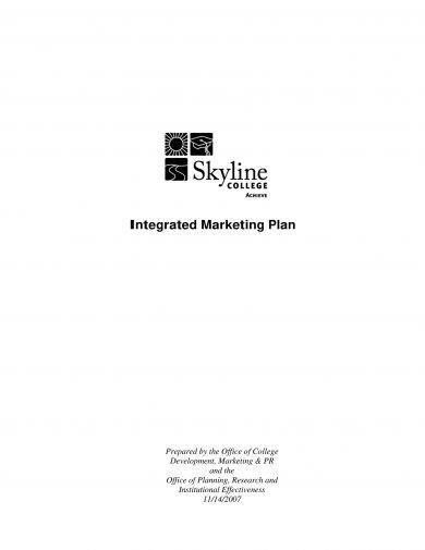comprehensive integrated marketing plan example