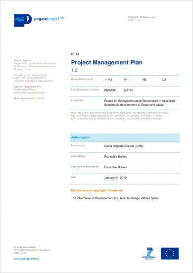 comprehensive project management plan example