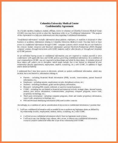 8 Patient Confidentiality Agreement Examples