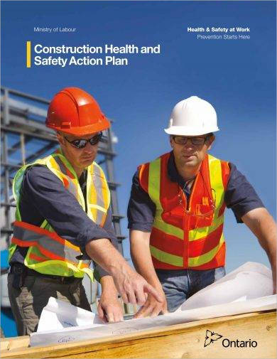 construction health and safety action plan example