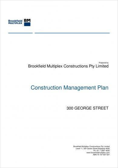 construction management plan for a project example