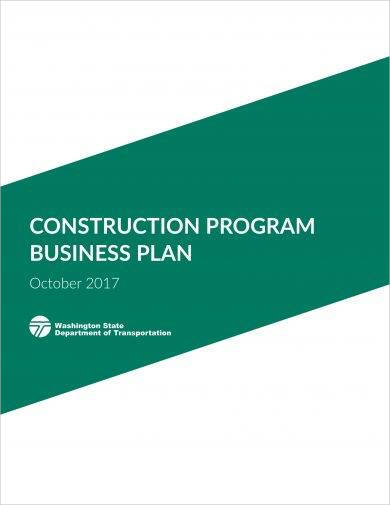 construction program business plan example