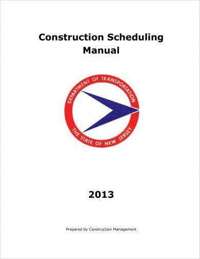 construction project plan and scheduling manual example
