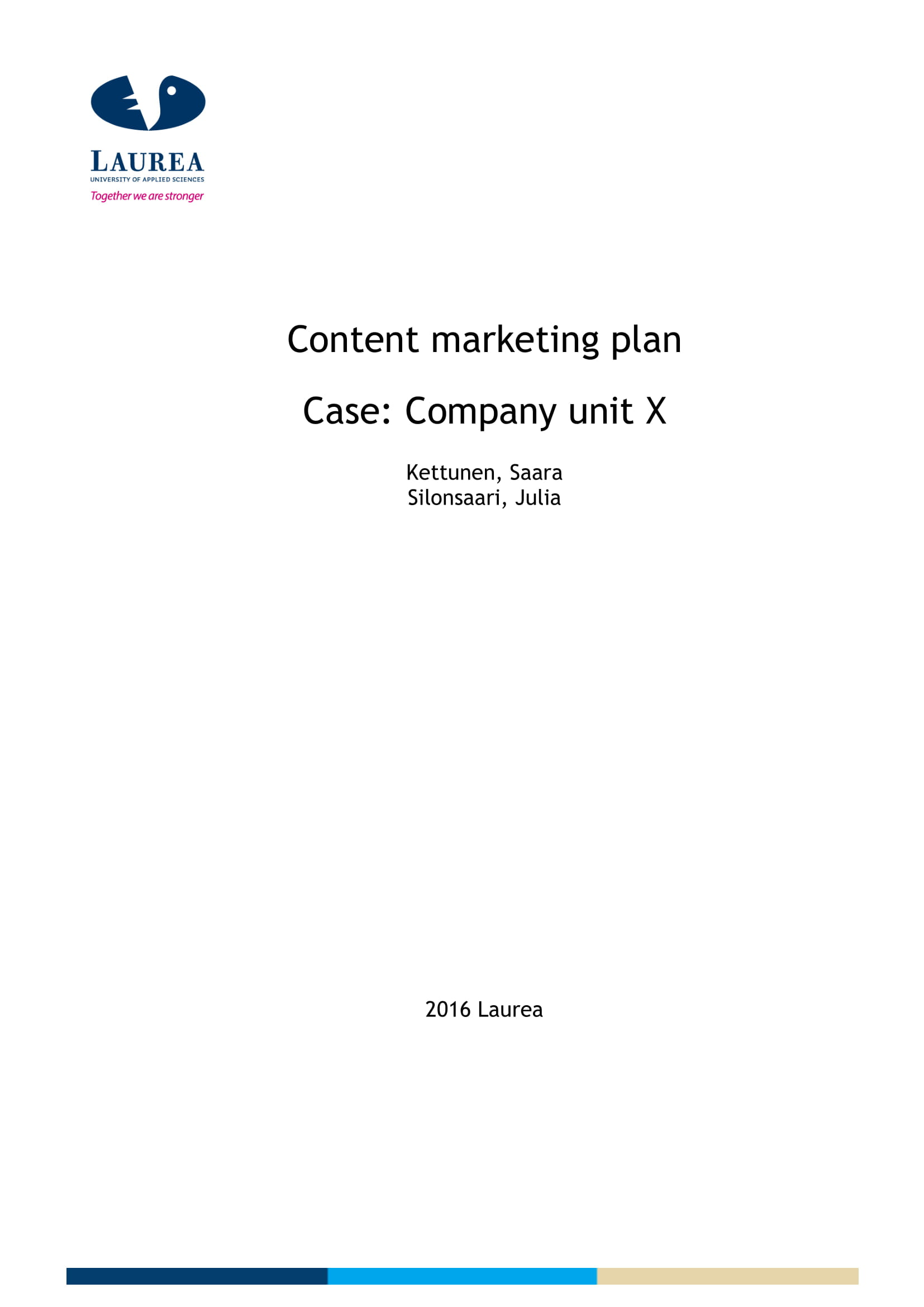 content marketing plan format example