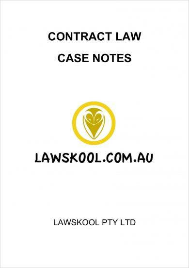 contract law case note example1
