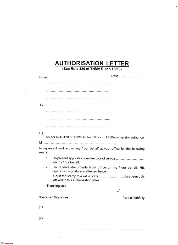 9  letter of authorization to represent examples