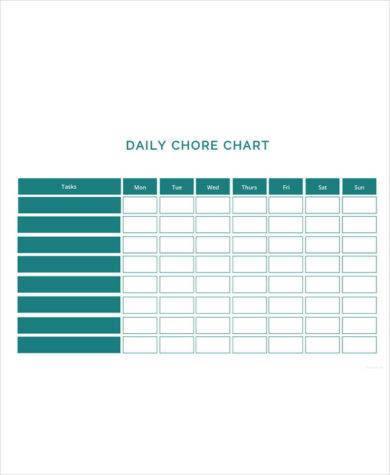 daily chore chart template1