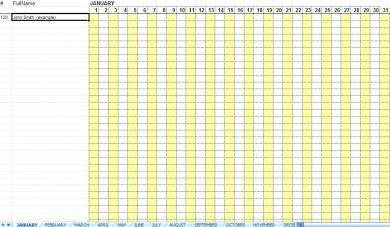 daily employee attendance sheet in excel1