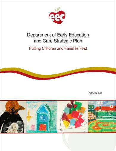department of early education and care strategic plan example