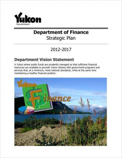 department of finance strategic plan example