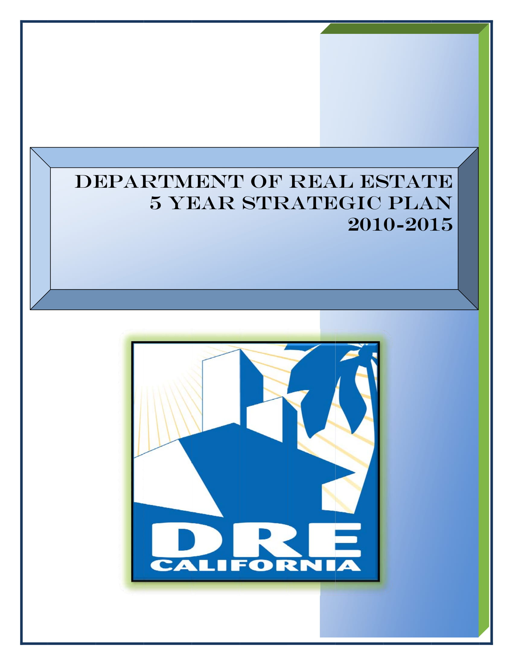 department of real estate five year strategic plan example 01