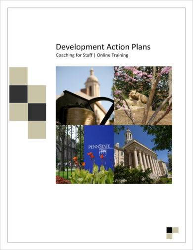 development action plan online training and coaching of staff example