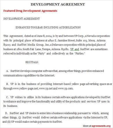 development agreement example1
