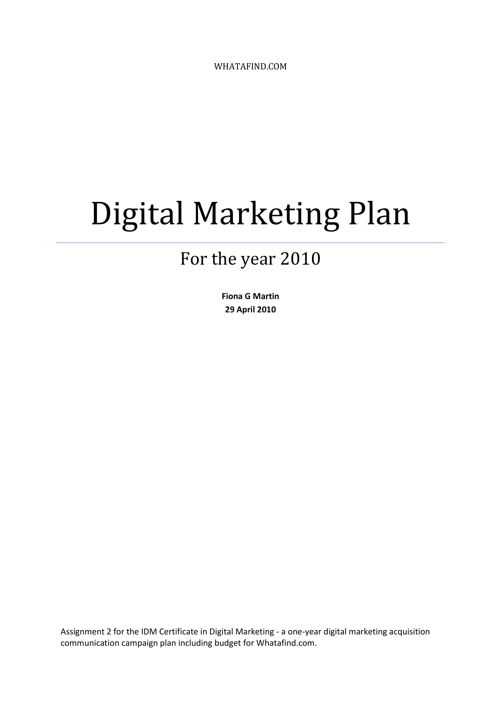 digital marketing plan with affiliate marketing strategies and tactics example 01