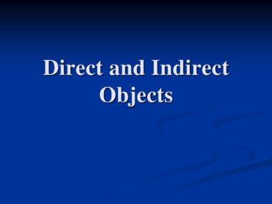 direct objects indirect objects and notes example1