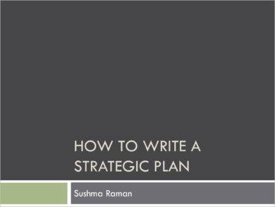 discussion on writing brief strategic plan example1