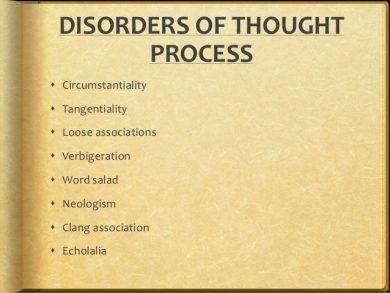 disorders of thought process1