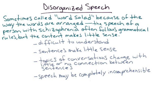 disorganised speech