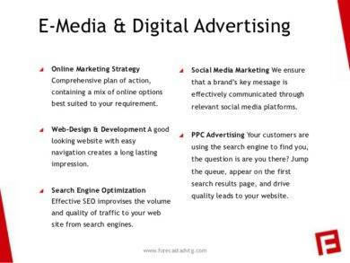 e media and digital advertising