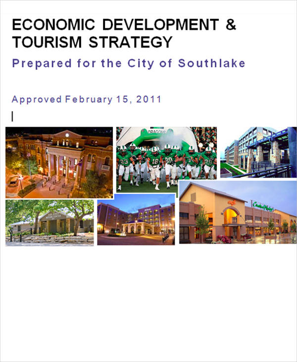 economic development and tourism strategy example