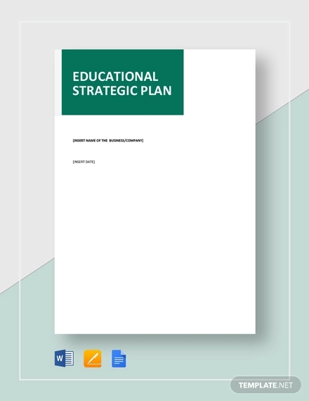 educational strategic plan template