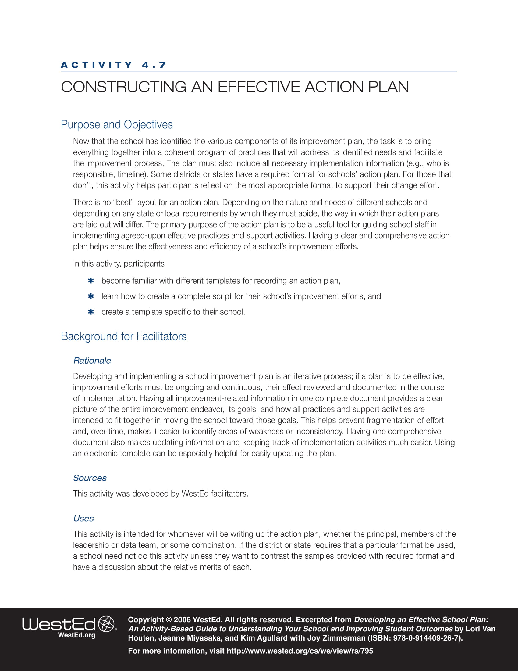 effective action plan format for your business example 1