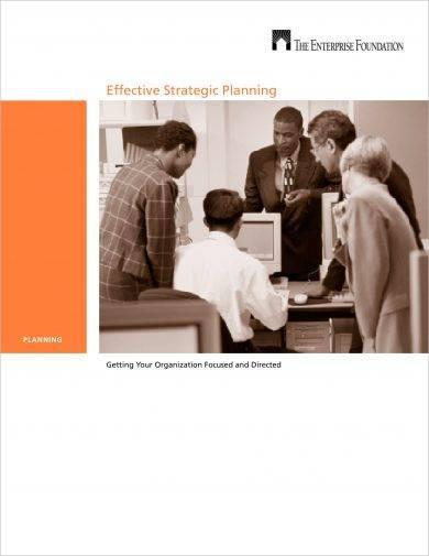 effective brief strategic plan example1