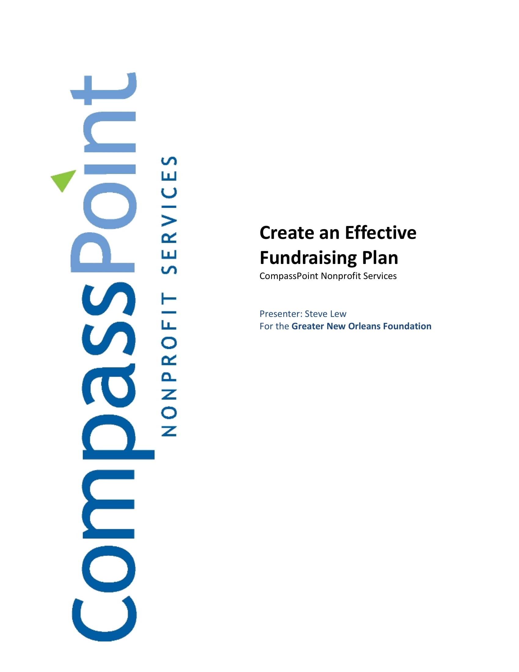 effective fundraising plan example 01