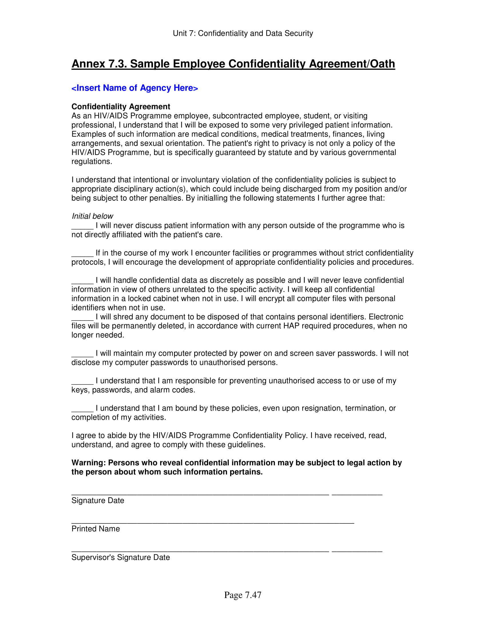 11 Employee Confidentiality Agreement Examples PDF Word
