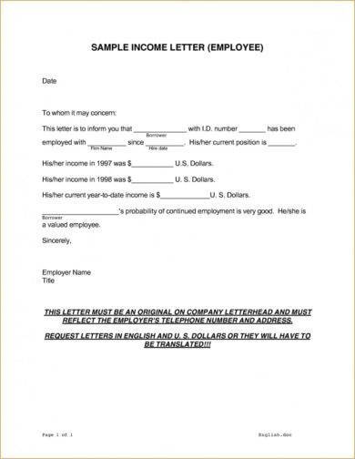 employee income verification letter example1