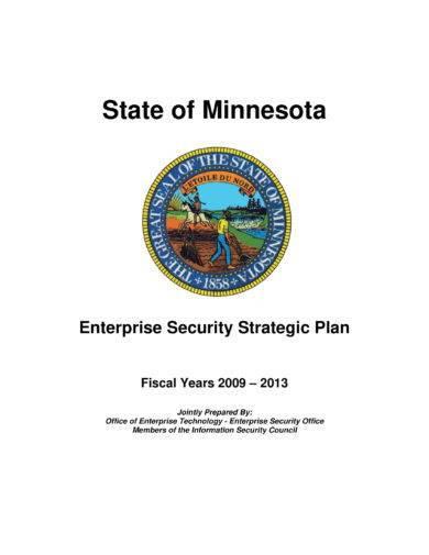 enterprise security strategic plan example