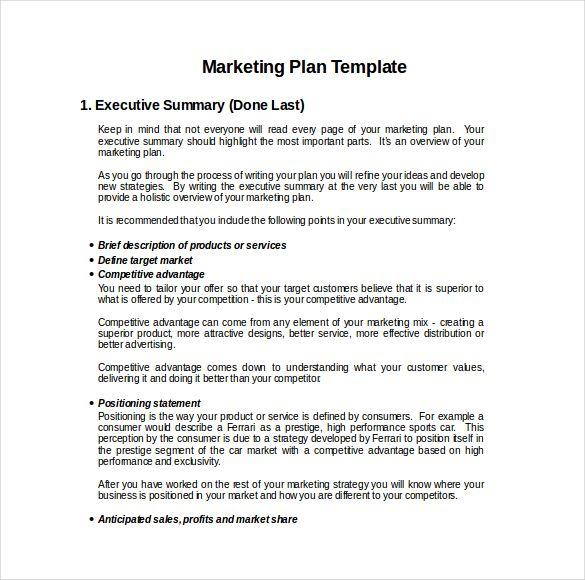 Business Plan Template Pdf | 9 Advertising And Marketing Business Plan Examples Pdf Examples