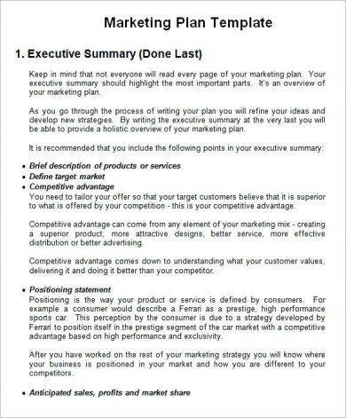 executive summary for business plan example1