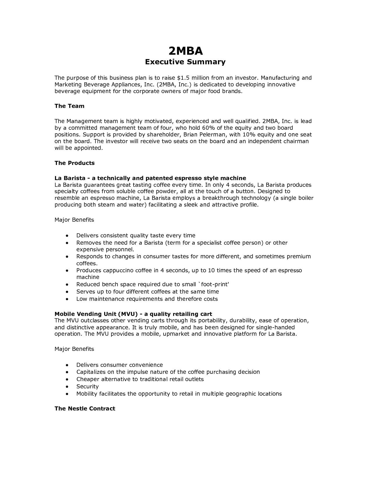 8 executive summary marketing plan examples pdf